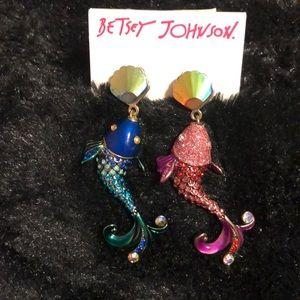 Betsy Johnson  earrings Koi fish